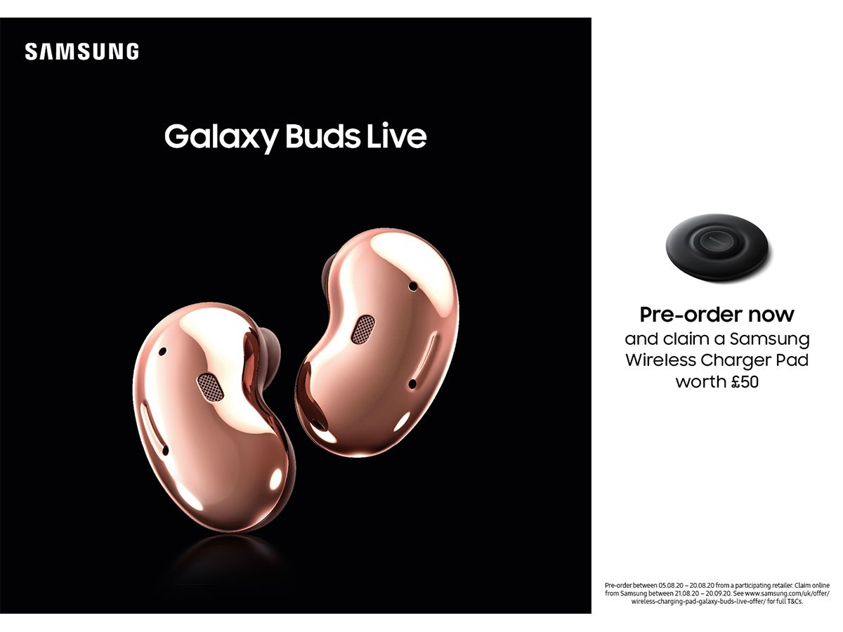 10% Off Galaxy Buds Live Pre-orders + Free Gift