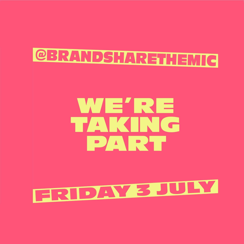 We're taking part in @BrandShareTheMic