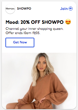 Mood: 20% OFF SHOWPO 😍