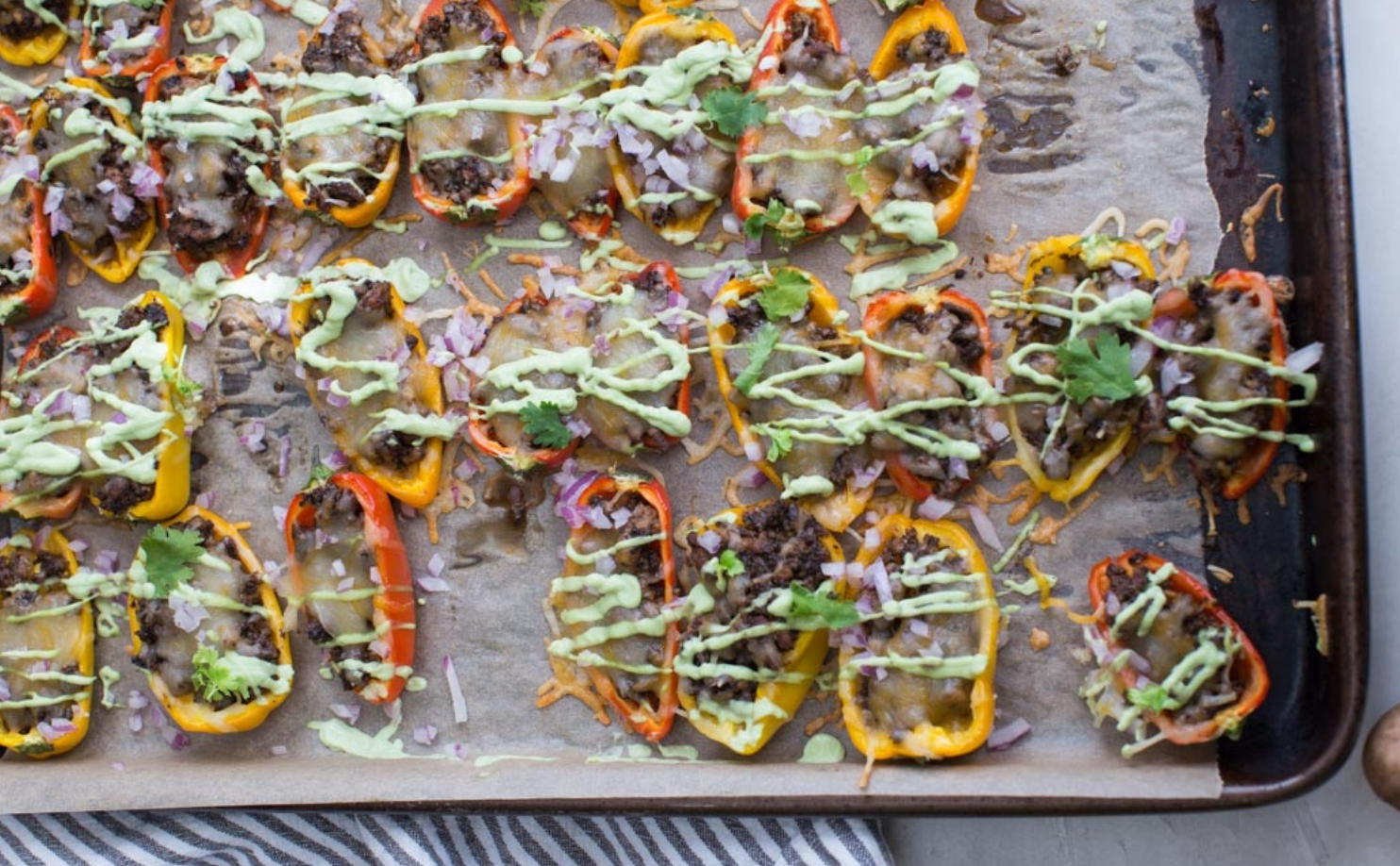 Recipe: Mini bell pepper nachos