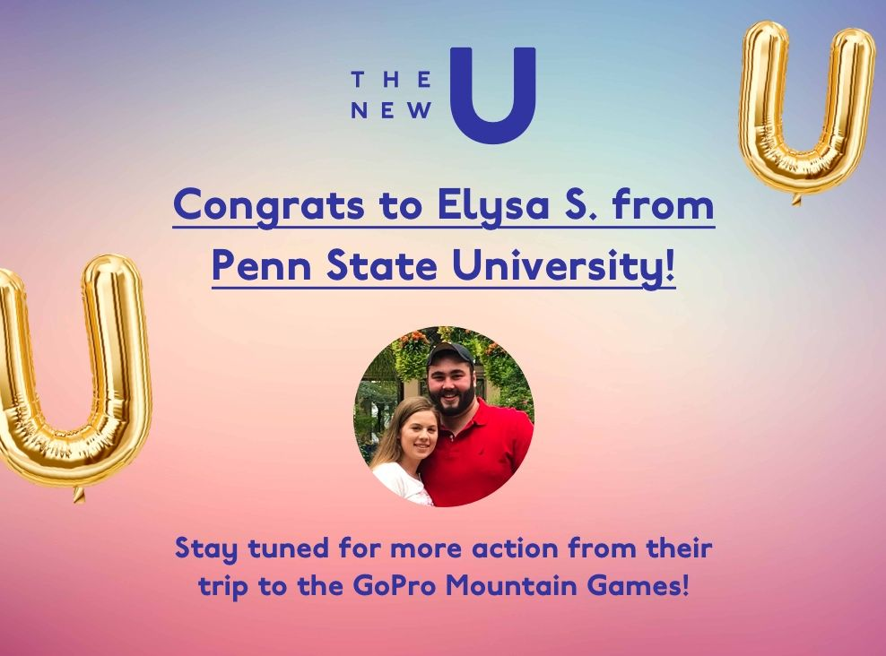 Congrats to Elysa, winner of the GoPro Mountain Games trip!