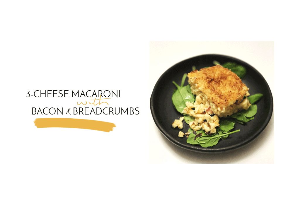 Inside Yummie's Recipe Box: 3-Cheese Macaroni with Bacon & Breadcrumbs