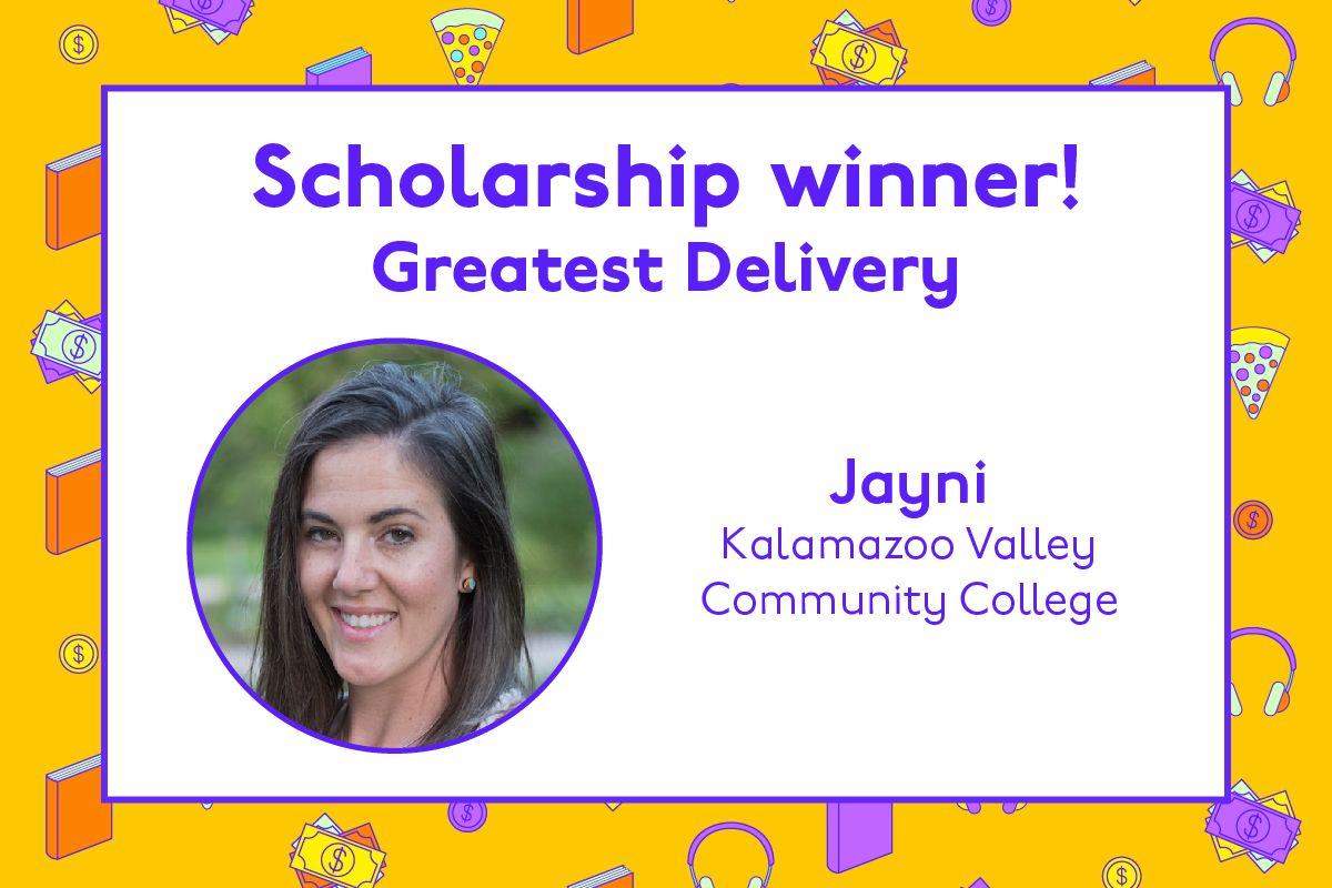 Congratulations to Jayni 🎉