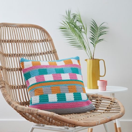 Bored At Home? Learn How To Make A Tapestry Crochet Cushion