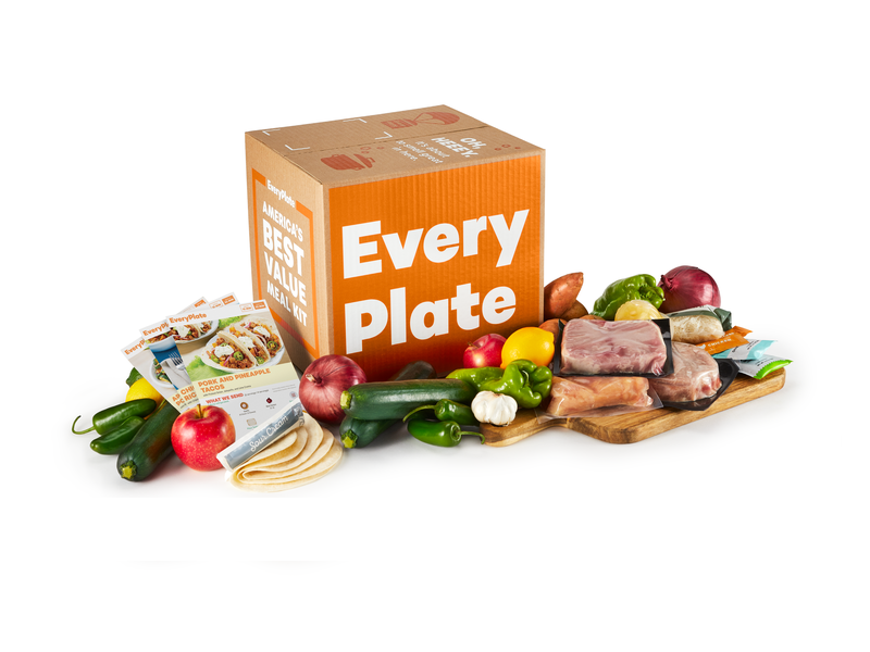 EveryPlate food and snacks subscription box